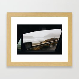 Road trip along the Oregon Coast Framed Art Print