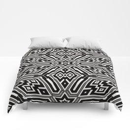 grid black white 3 Comforters
