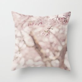 Pastel sakura Throw Pillow