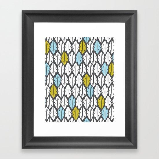 Foliar Framed Art Print