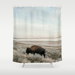 Bison of Antelope ISland Shower Curtain