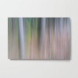 Forest Blur Metal Print