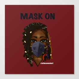 Mask On Version 2 Canvas Print