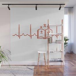 Math Teacher Heartbeat V2 Wall Mural