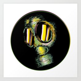 Toxic Mask Art Print