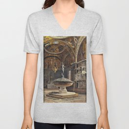 The Baptistery Of S. Marco Venice - Digital Remastered Edition Unisex V-Neck