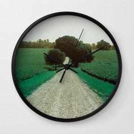 Best Farm Tree Turquoise Wall Clock