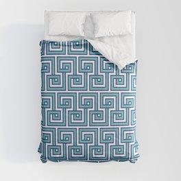 Greek Key - Turquoise Comforters