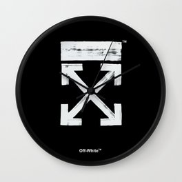 Off-White Brush Arrows Wall Clock