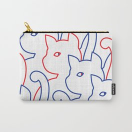 Simple Cat - Line Art Carry-All Pouch