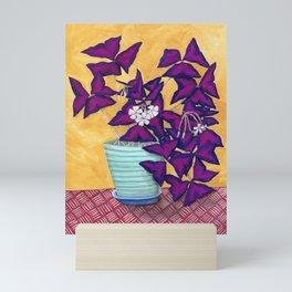 Purple Shamrock Houseplant Painting Mini Art Print