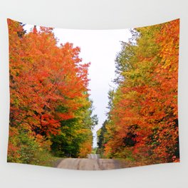 Rolling Through the Hills of Autumn Wall Tapestry
