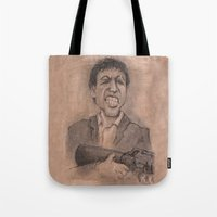 montana Tote Bags featuring Montana by chadizms
