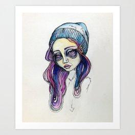 Scribbed Art Print