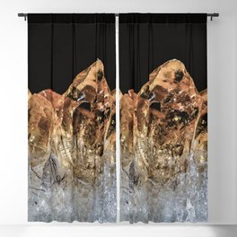 Fire and Ice Citrine crystals Blackout Curtain