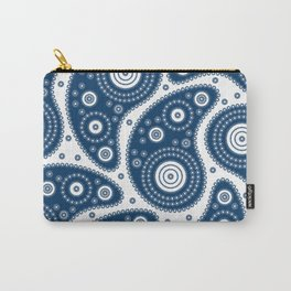 Blue Paisley Pattern Carry-All Pouch