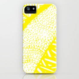 Free Hand Zesty Lemon Doodle Design iPhone Case