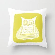 Hoot 3 Throw Pillow