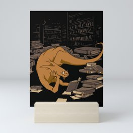 The Book Wyrm Mini Art Print