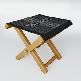 New York City (type in type on black) Folding Stool