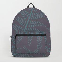 Ferns on Purple Backpack