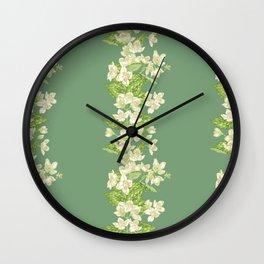 Jasmine Branch Decor Wall Clock
