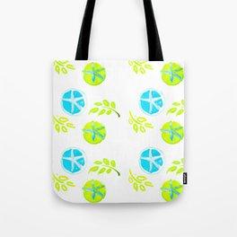 Aqua Stars Tote Bag