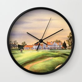 Muirfield Golf Course 18th Green Wall Clock
