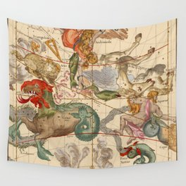 Star Atlas Vintage Constellation Map Ignace Gaston Pardies Wall Tapestry