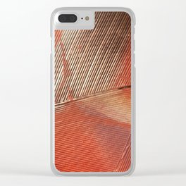 Gemstone #3: a textured, abstract piece with a hint of gold by Alyssa Hamilton Art Clear iPhone Case