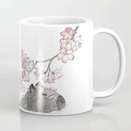 Capybara and petals Coffee Mug