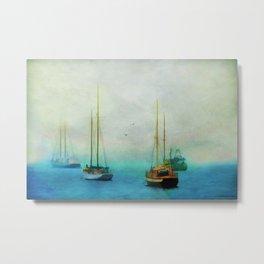 Harbor Fog Metal Print