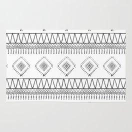 Gray Boho Aztec Rug