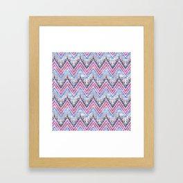 Pena Chevron Silver Framed Art Print