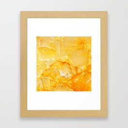 Yellow onyx marble Framed Art Print
