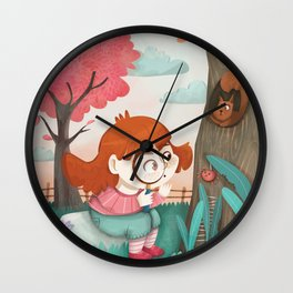Giadina and the magnifying glass Wall Clock