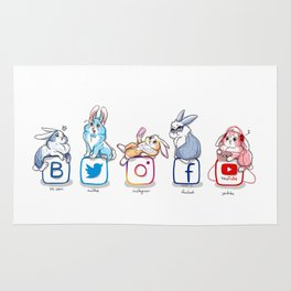 social networks buns Rug