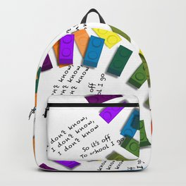 Off to school I go - with my colorful building blocks Backpack