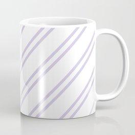 Lilac Diagonal lines pattern Coffee Mug