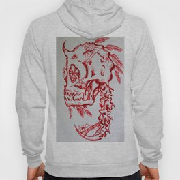 Bones and feathers Hoody