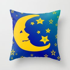 Mr. Moon Throw Pillow