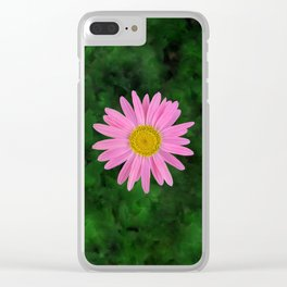 Pink Shasta Daisy Clear iPhone Case