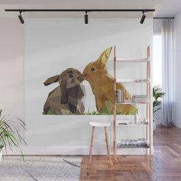 Geometric Bunny Wall Mural