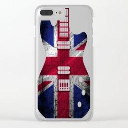 Flag-United-Kingdom-Guitar Clear iPhone Case