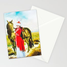 Kazakh Costume Stationery Cards