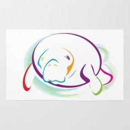 Rainbow Manatee Rug