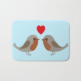 Two cute robins Bath Mat