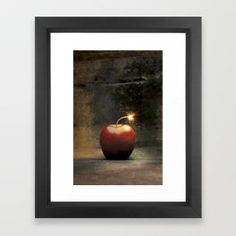 Apple bomb Framed Art Print