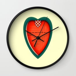 I carry your heart Wall Clock