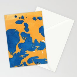 Citrus Berry Marble Painting Stationery Cards